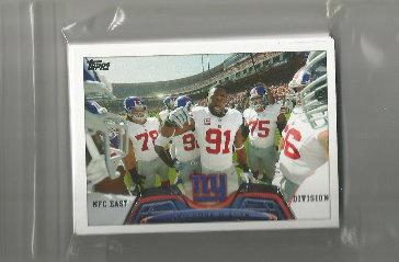 2013 Topps New York Giants Team Set