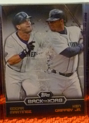 2016 Topps Back To Back Mariners Griffey Edgar #4