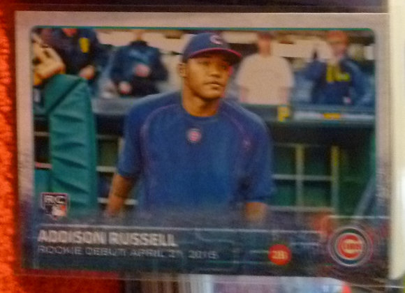 2015 Topps Addison Russell RC Cubs #US208