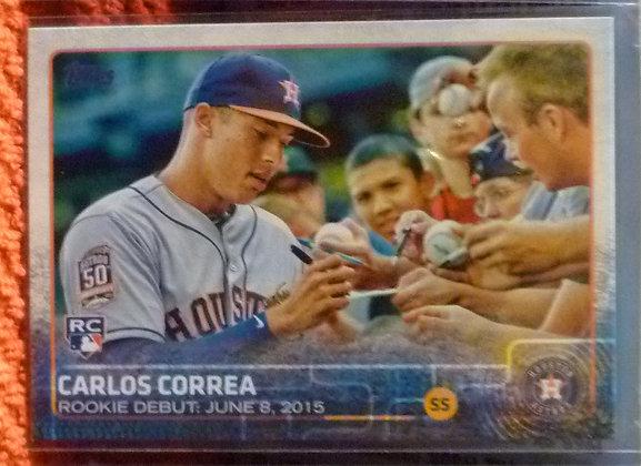 2015 Topps Carlos Correa RC #US251 Astros