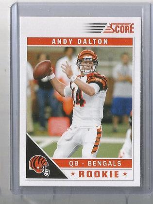 2011 Score Andy Dalton RC Factory Set Variation