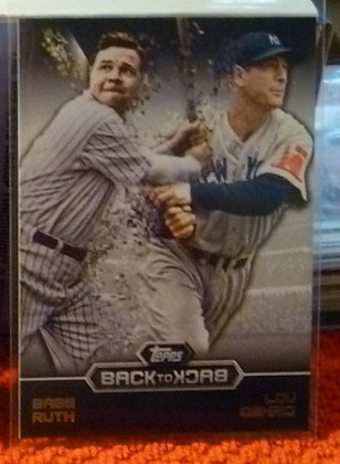 2016 Topps Back To Back Yankees #12 Ruth Gehrig