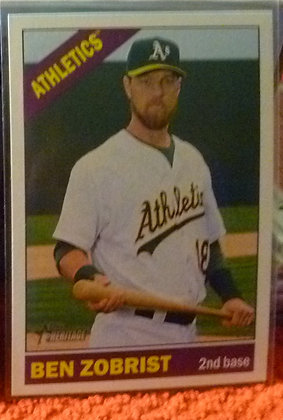 2015 Heritage High # Ben Zobrist #704 A's SP