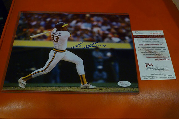 Jose Canseco Autographed Photo (#5) - JSA Cert