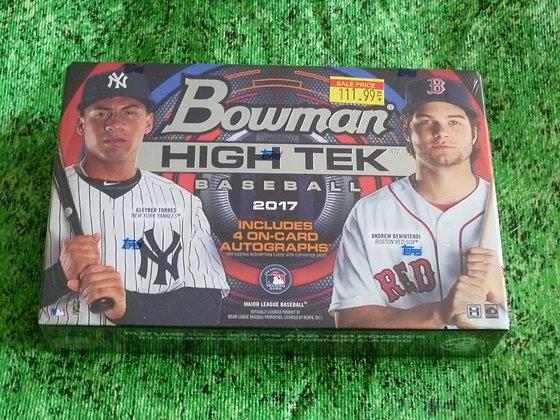 2017 Bowman Hi Tek Baseball