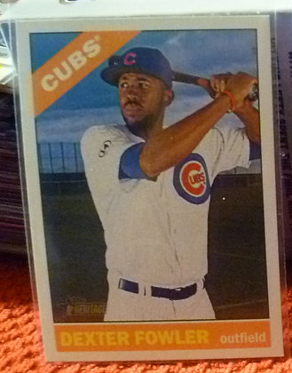 2015 Heritage High # Dexter Fowler #715 Cubs SP