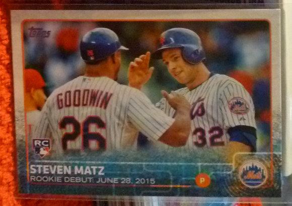2015 Topps Steven Matz RC #US134 NY Mets