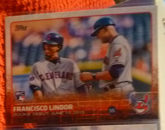 2015 Topps Francisco Lindor RC Indians #US286