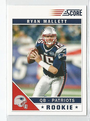 2011 Score Ryan Mallett RC Factory Variation