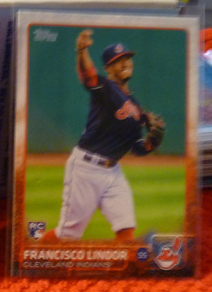 2015 Topps Francisco Lindor RC Indians #US82