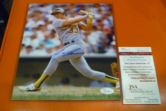 Jose Canseco Autographed Photo (#2) - JSA Cert