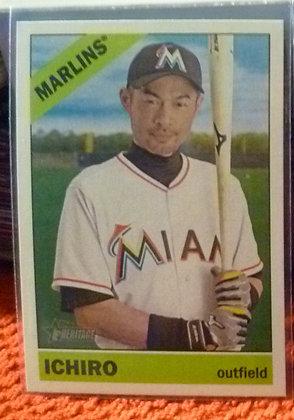 2015 Heritage High # Ichiro Suzuki Marlins #706 SP