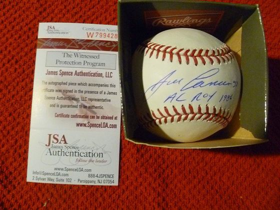Jose Canseco Autographed Ball w/ JSA & ROY Inscrip