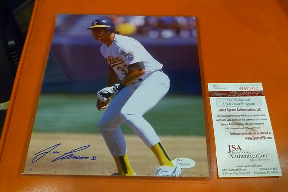 Jose Canseco Autographed Photo (#4) - JSA Cert