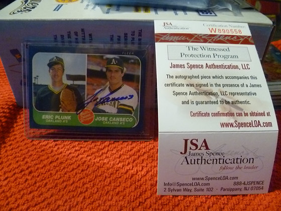 Jose Canseco Autographed 1986 Fleer RC JSA
