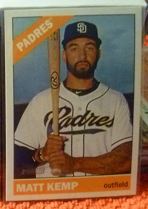 2015 Heritage High # Matt Kemp #701 Padres SP