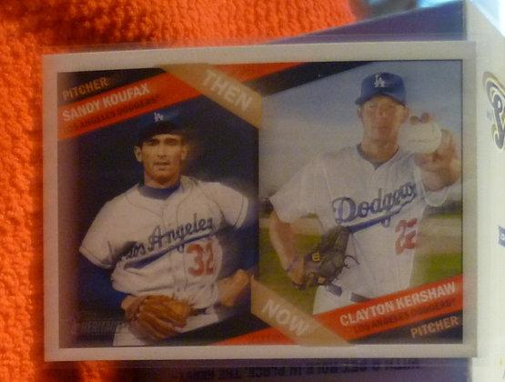 2015 Heritage Then & Now Koufax Kershaw #6 Dodgers