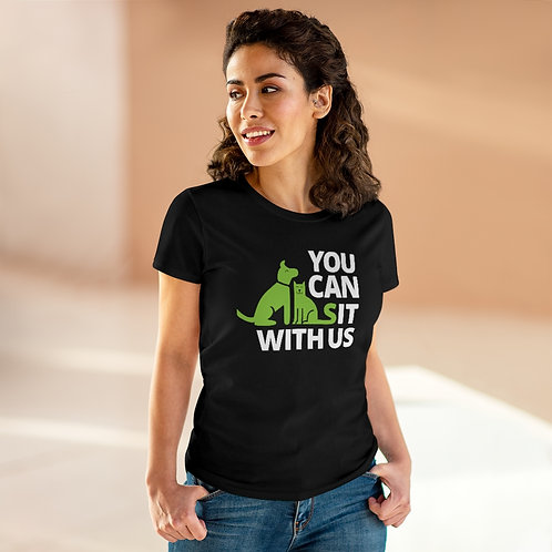 You Can Sit With Us Women's Heavy Cotton Tee
