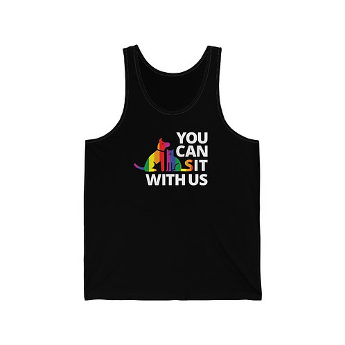 Pride You Can Sit With Us- Unisex Jersey Tank