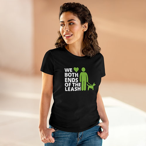 Both Ends Of The Leash Women's Heavy Cotton Tee