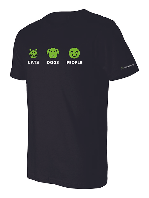 Cats, Dogs, People UNISEX T-SHIRT