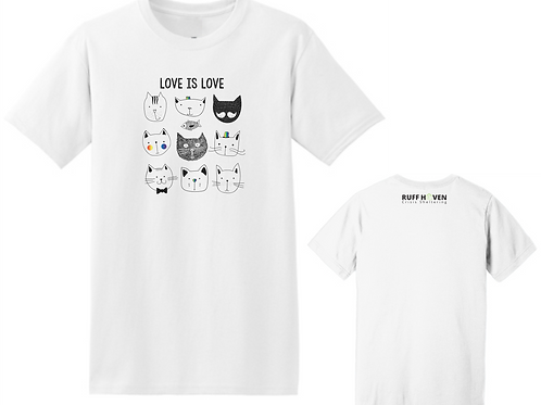 Love Is Love Cat T-Shirt
