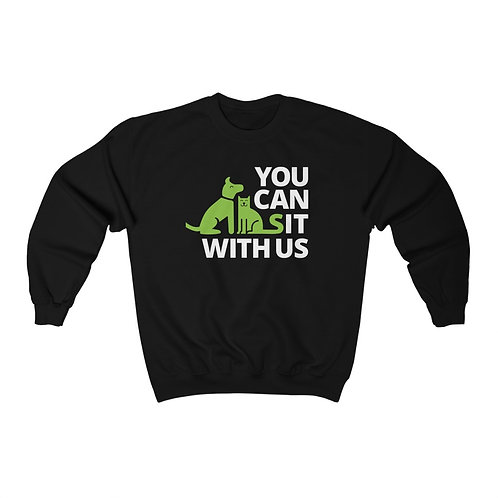 You Can Sit With Us Unisex Heavy Blend™ Crewneck Sweatshirt