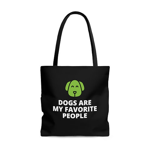 Dogs Are My Favorite People Tote Bag