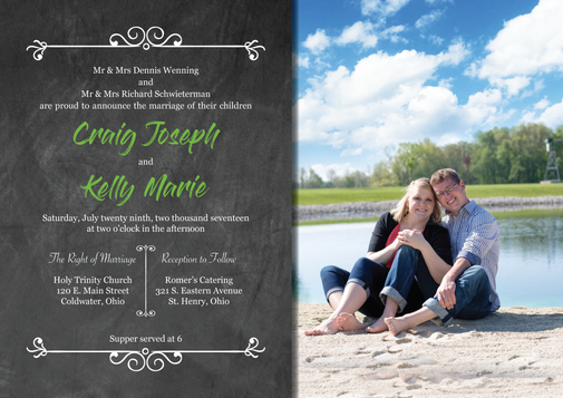 Mr. & Mrs. Wenning - Wedding Invitation
