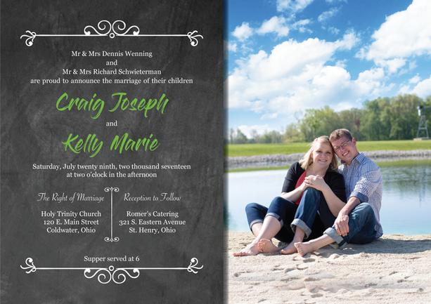 Mr. & Mrs. Wenning - Wedding Invitation