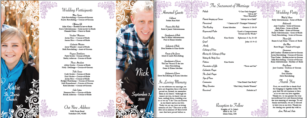 Mr. & Mrs. Rutschilling - Wedding Program