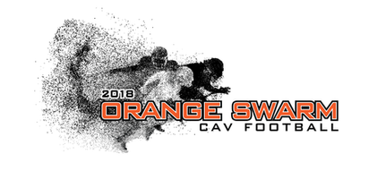 Coldwater Football Team - Orange Swarm Logo