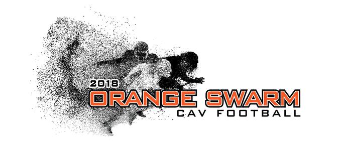 Coldwater Football Team - Orange Swarm Logo
