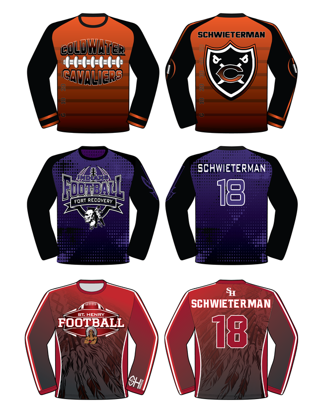 Sublimation Shirts - Football Spirit Packs