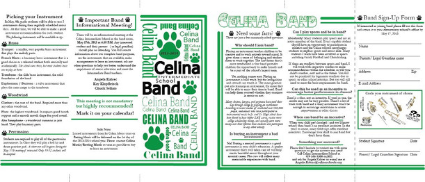 Celina Band Brochure