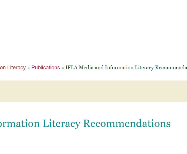 IFLA Media and Information Literacy recommendations