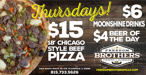 FB Chicago Style Beef THURSDAY with new