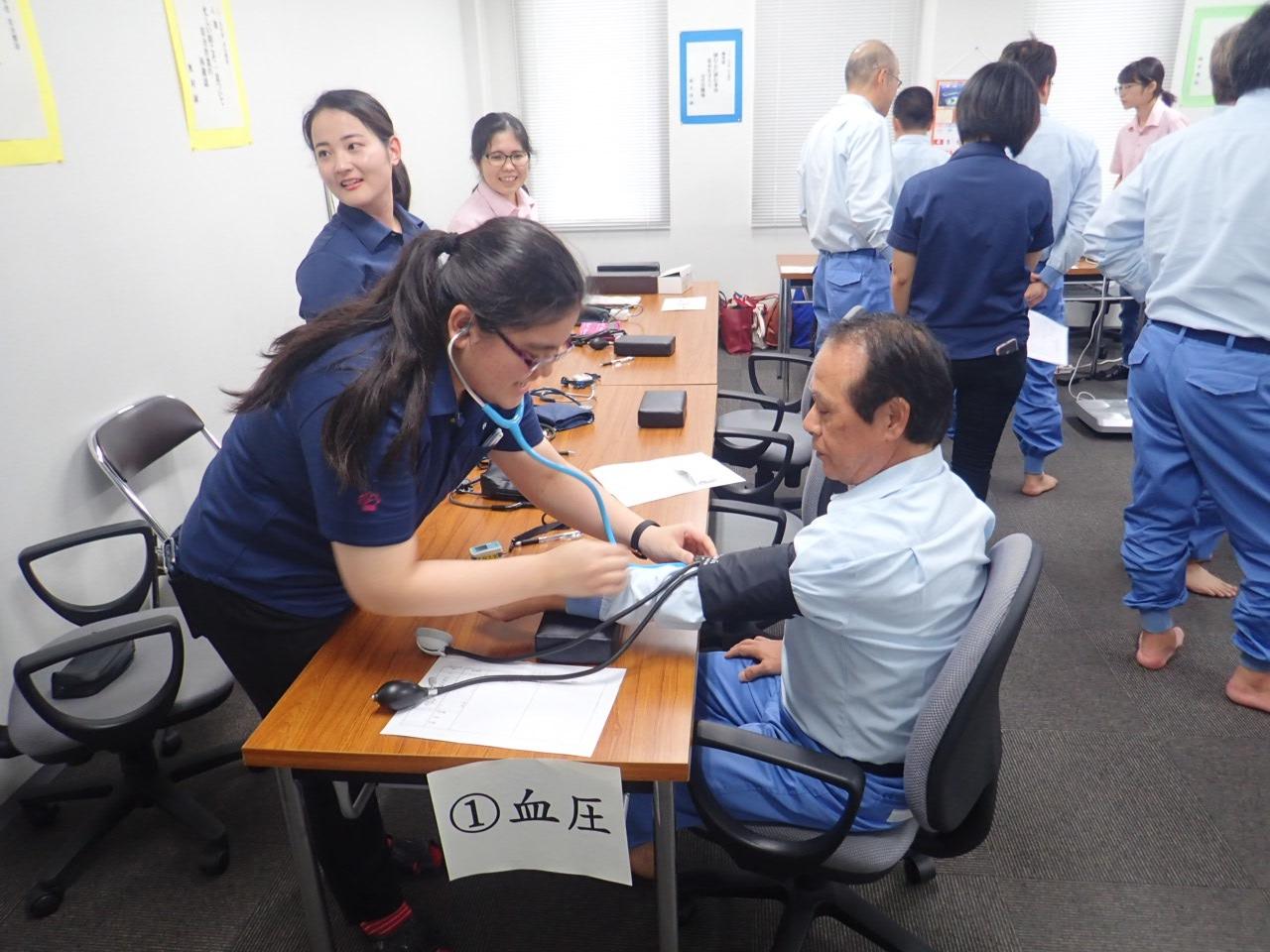 名桜大学サポートによる社内健康チェック