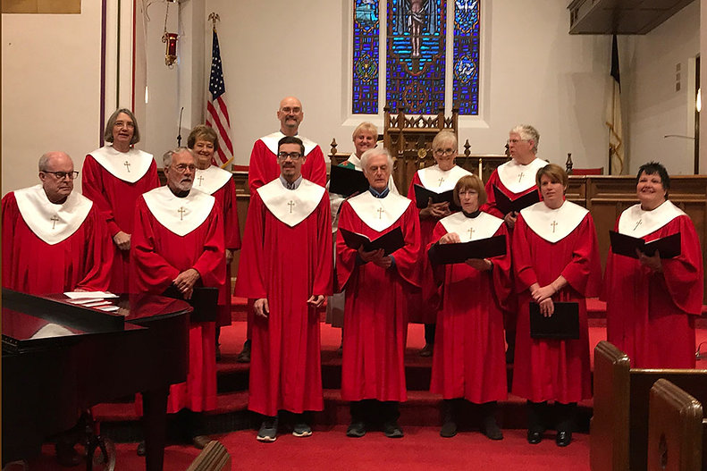 Photo of choir singing