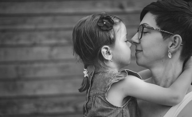 fotografie matky s dcerou