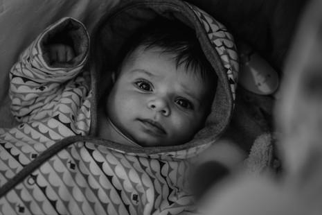 Fotografie miminka v kočáru
