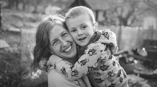 Rodinné foto matky s malým synem