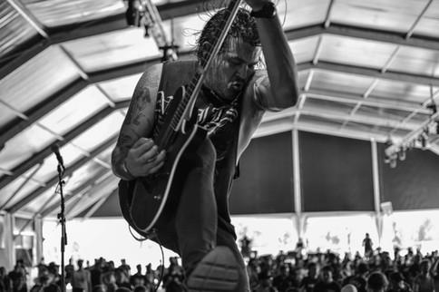 Kytarista Bo Lueders z kapely Harms Way