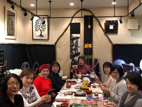 "11月16日第2土曜 恒例の""中国茶会""と菊最中"