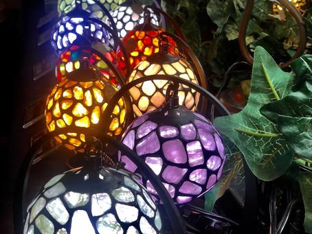 明かり・灯り〜天然石ランプ展始まる