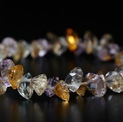 ハートブリリアントカット水晶のブレスレット