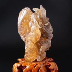 龍の置物ー水晶