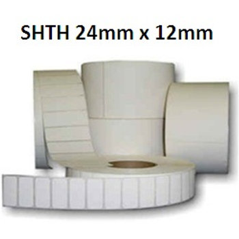 SHTH - Adhesive thermal barcode labels 24mm x 12mm (5.000pcs)