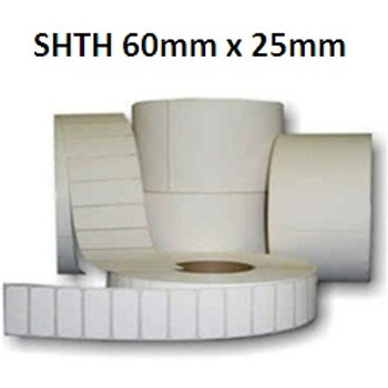 SHTH - Adhesive thermal barcode labels 60mm x 25mm (5.000pcs)