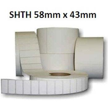 SHTH - Adhesive thermal barcode labels 58mm x 43mm (5.000pcs)